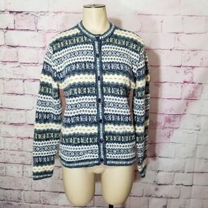 Christopher & banks button down cardigan sweater M